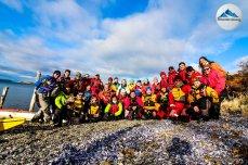 grupo kayakistas paso guarani